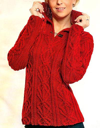 красный-пуловер