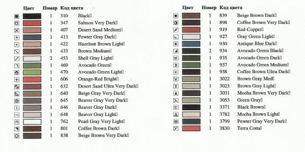 схема 20х25 DMC лист 7
