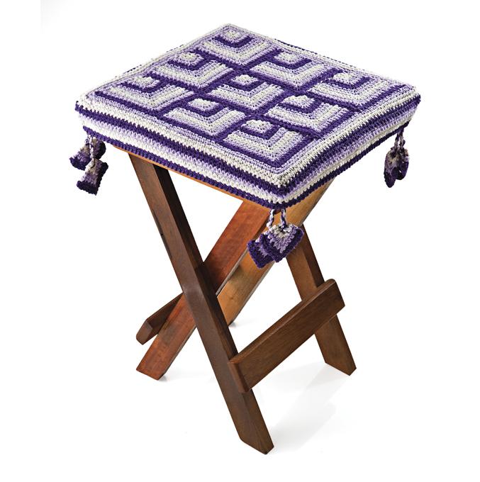 Накидки крючком на стулья своими руками 25