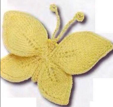 Бабочка связана спицами №2 и